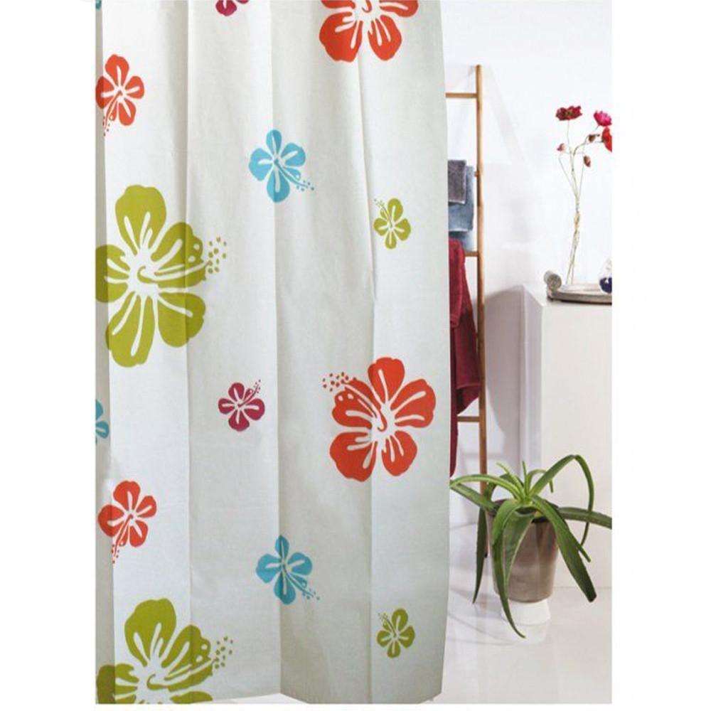 Blue Canyon SC412 Peva Multi Flower Shower Curtain