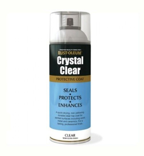 Rust Oleum Crystal Clear Protective Top Coat Semi Gloss