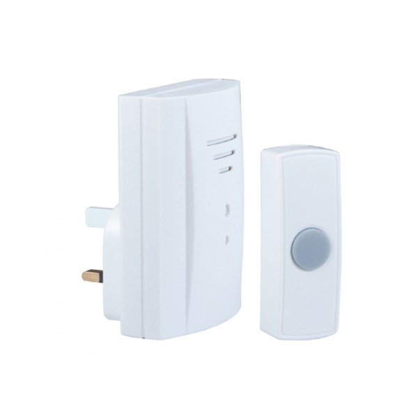 Byron (B305) Wirefree Plug In Door Chime Kit - 50 Mitres