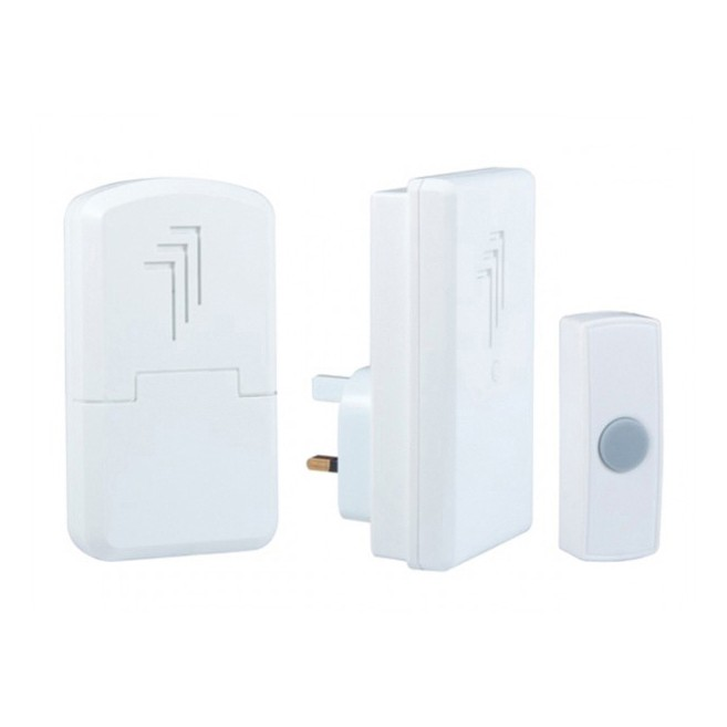 Byron (DB312) Wirefree Portable & Plug In Door Chime Kit - 30 Metres