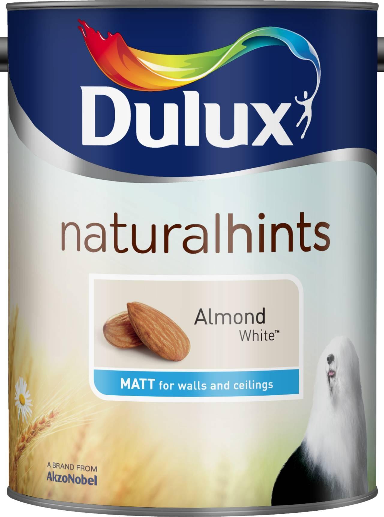 Dulux Natural Hints Almond White Matt Emulsion Paint 5l