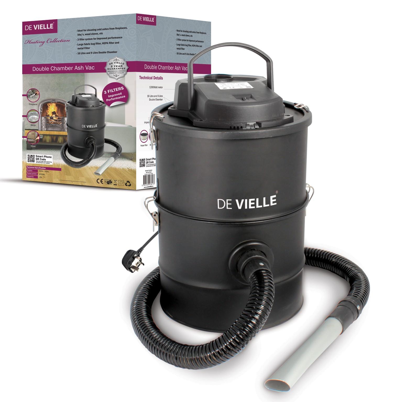 De Vielle Defav006 25 Litre Ash Vac Black 1200w