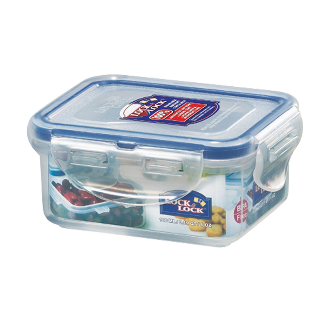Lock & Lock HPL805 Food Storage Container Rectangular - 180ml