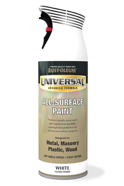 Rust-Oleum Universal All Surface (Gloss) Spray Paint - White - 400ml