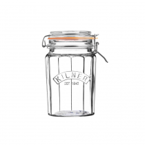 Kilner (0025.734) Facetted Clip Top Jar - 0.95L