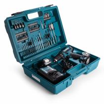 Makita HP331DWAX1 10.8V CXT Combi Drill Kit With 74 Piece Bit Set