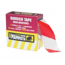 Everbuild Barrier Tape - Red/white - 72mm x 500m