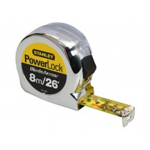 Stanley (0-33-526) Powerlock Rule Black Armor Tape - 8m / 26ft
