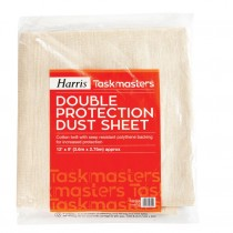 Harris Contractor Double Protection Dust Sheet - 12' x 9'