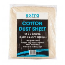 Harris Extra Cotton Dust Sheet - 12' x 9'