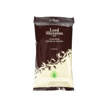 Lord Sheraton Leather Clean & Shite Wipes - 24 Sheets