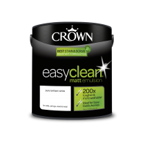 Crown Easy Clean Pure Brilliant White - Matt Emulsion Paint - 2.5L