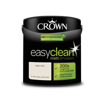 Crown Easy Clean Beige White - Matt Emulsion Paint - 2.5L