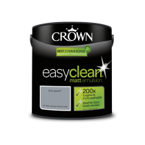 Crown Easy Clean Blue Gravel - Matt Emulsion Paint - 2.5L