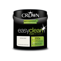 Crown Easy Clean Canvas White - Matt Emulsion Paint - 2.5L