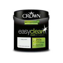 Crown Easy Clean Chalky White - Matt Emulsion Paint - 2.5L