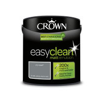 Crown Easy Clean City Break- Matt Emulsion Paint - 2.5L