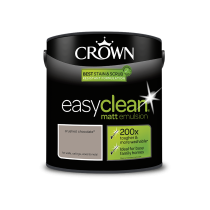 Crown Easy Clean Crushed Chocolate - Matt Emulsion Paint - 2.5L