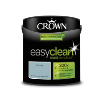 Crown Easy Clean Duck Egg - Matt Emulsion Paint - 2.5L