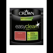 Crown Easy Clean English Fire - Matt Emulsion Paint - 2.5L