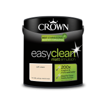 Crown Easy Clean Soft Cream - Matt Emulsion Paint - 2.5L