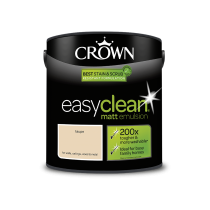 Crown Easy Clean Taupe - Matt Emulsion Paint - 2.5L
