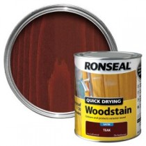 Ronseal Quick Drying Woodstain - Teak (Satin) 750ml