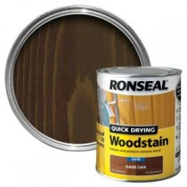 Ronseal Quick Drying Woodstain - Dark Oak (Satin) 750ml