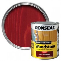 Ronseal Quick Drying Woodstain - Deep Mahogany (Gloss) 750ml