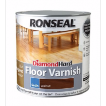 Ronseal Diamond Hard Floor Varnish - Walnut (Satin) 2.5L