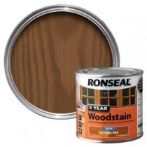 Ronseal 5 Year Woodstain - Natural Oak (Satin) 250ml