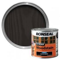 Ronseal 5 Year Woodstain - Ebony (Satin) 250ml