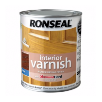 Ronseal Diamond Hard Interior Varnish -  Dark Oak (Satin) 750ml