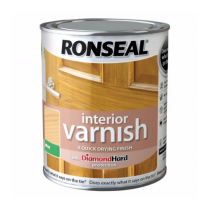 Ronseal Diamond Hard Interior Varnish - Almond Wood (Matt) 750ml