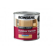 Ronseal Crystal Clear Outdoor Varnish - Clear (Satin) 250ml