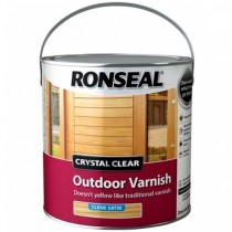 Ronseal Crystal Clear Outdoor Varnish - Clear (Satin) 2.5L