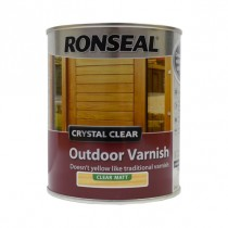 Ronseal Crystal Clear Outdoor Varnish - Clear (Matt) 750ml