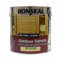 Ronseal Crystal Clear Outdoor Varnish (Matt) Clear - 2.5L