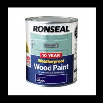 Ronseal 10 Year Weatherproof Paint - Royal Blue (Gloss) 750ml