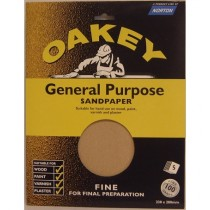 Oakey OAK58287 Sandpaper Sheets - Fine - Pack Of 5