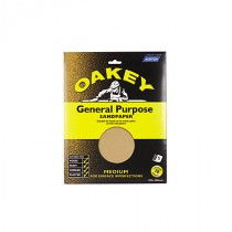 Oakey OAK58289 Sandpaper Sheets - Medium - Pack Of 5