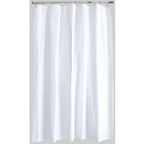 Aqualona 10419 Peva Shower Curtain - White - 180 x 180cm