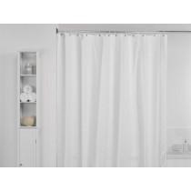 Aqualona 418963 Polyester Waffle White Shower Curtain - 180 x 180cm