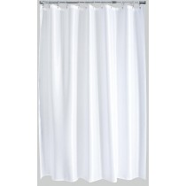 Aqualona 41079 Polyester Solitaire Shower Curtain - White - 180 x 180cm