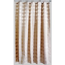 Aqualona 41147 Polyester Mocha Satin Circles Shower Curtain - 180 x 180cm