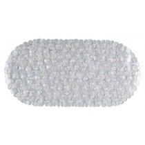 Aqualona 41307 Pebbles PVC Bath Mat - Clear
