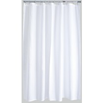 Aqualona 41338 Polyester Shower Curtain - White - 180 x 200cm