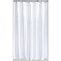 Aqualona 42052 Polyester White Oxford Shower Curtain - 180 x 180cm