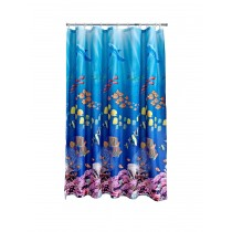 Aqualona 46463 Polyester Seaworld Shower Curtain - 180 x 180cm