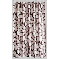 Aqualona 46593 Polyester Pebbles Shower Curtain - 180 x 180cm